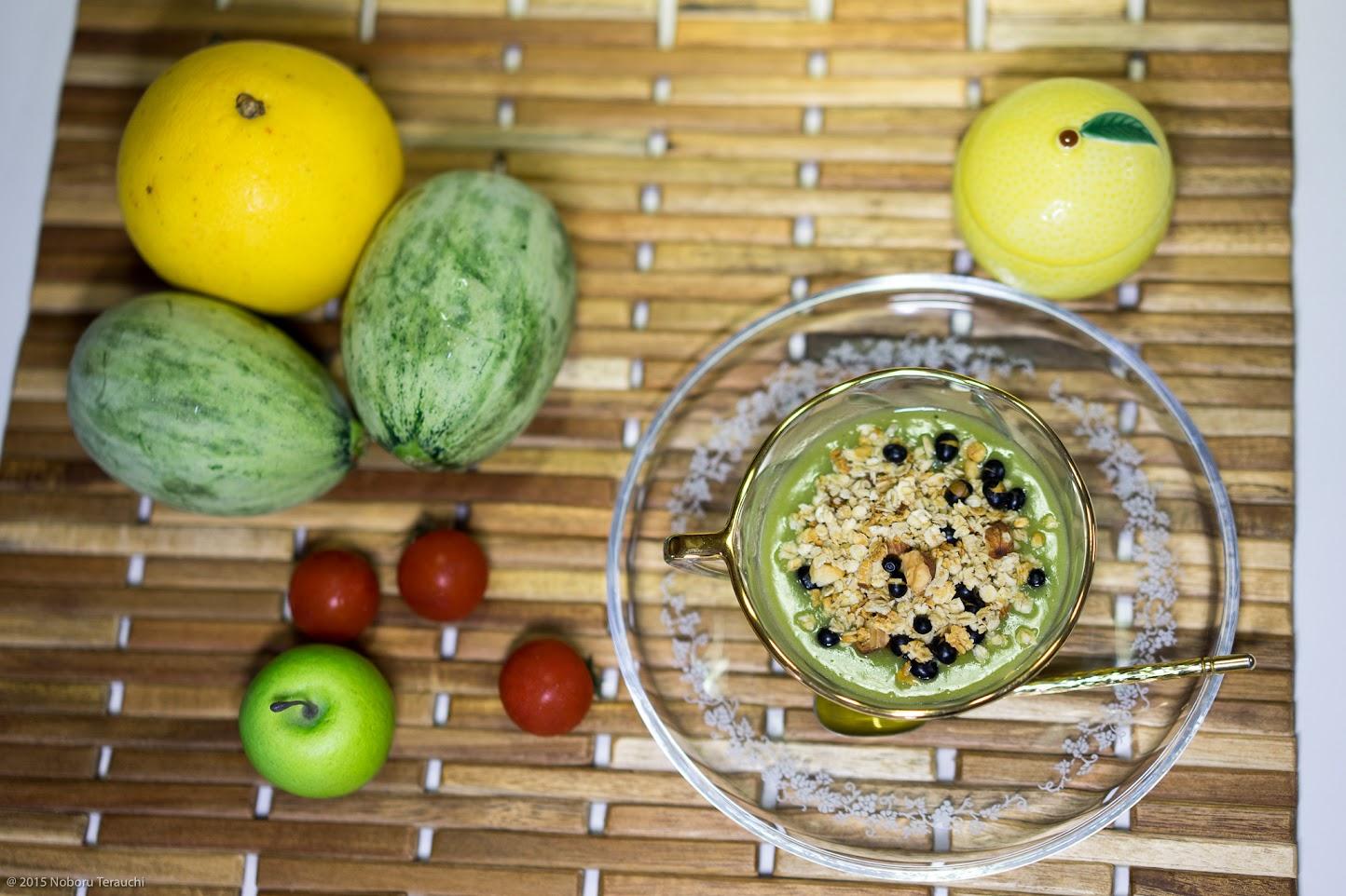 初夏の爽やかグリーンスープ