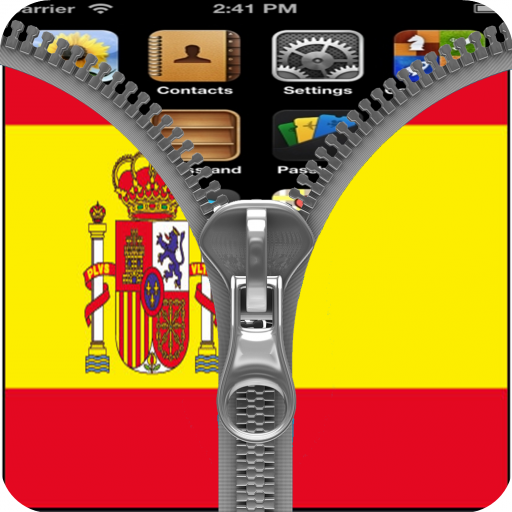 Spain Flag Zipper Screenlock