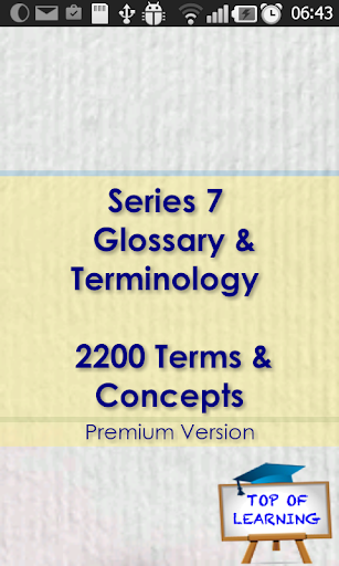 Series 7 Glossary Concepts