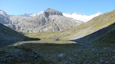 Photo: Maladetta et Mont Maudit à gauche brêche des tempêtes devant tuc d'Aiguallut