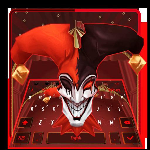 3D Black Red Clown Keyboard Theme
