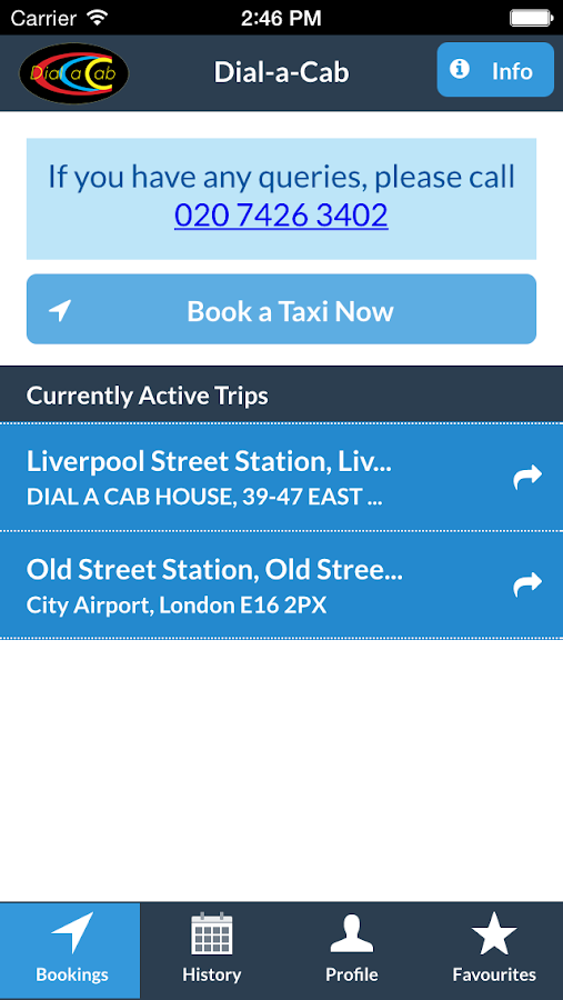 Dial-a-Cab - screenshot