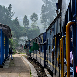 Its green to go.. by Aninda Maiti - Transportation Trains ( travel photography, random, hills, tamilnadu, train )