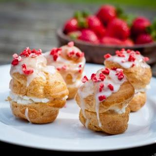 Strawberry Choux Buns