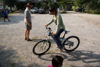 Photo: Testing the new bike