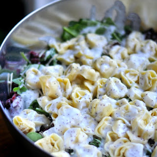 Tortellini Salad with Poppy Seed Dressing Party/Potluck Version.