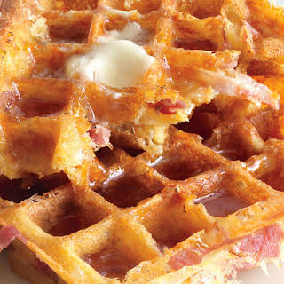 Ham-and-Cheese Waffles.