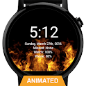 Flames Watch Face - Wear OS Smartwatch - Animated icon