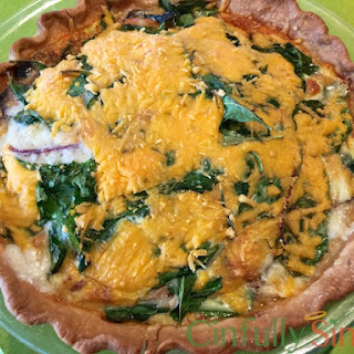 Bacon & Cheese Power Greens Quiche.