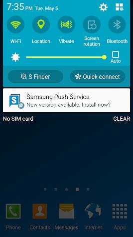 Samsung Push Service Screenshot