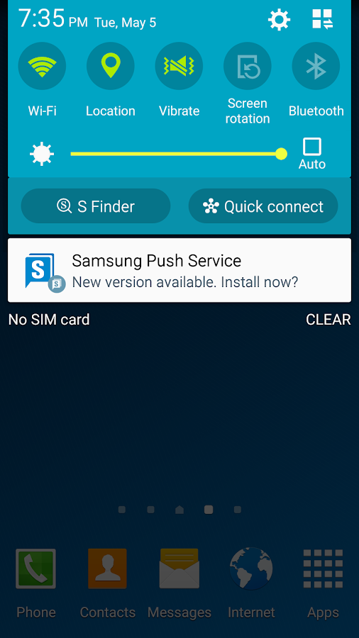 Samsung Push Service- screenshot