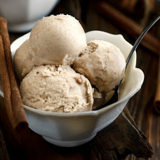 Cinnamon Ice Cream, Dairy and Gluten Free.