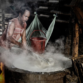 Tofu Maker by Petrus Arif - Professional People Factory Workers
