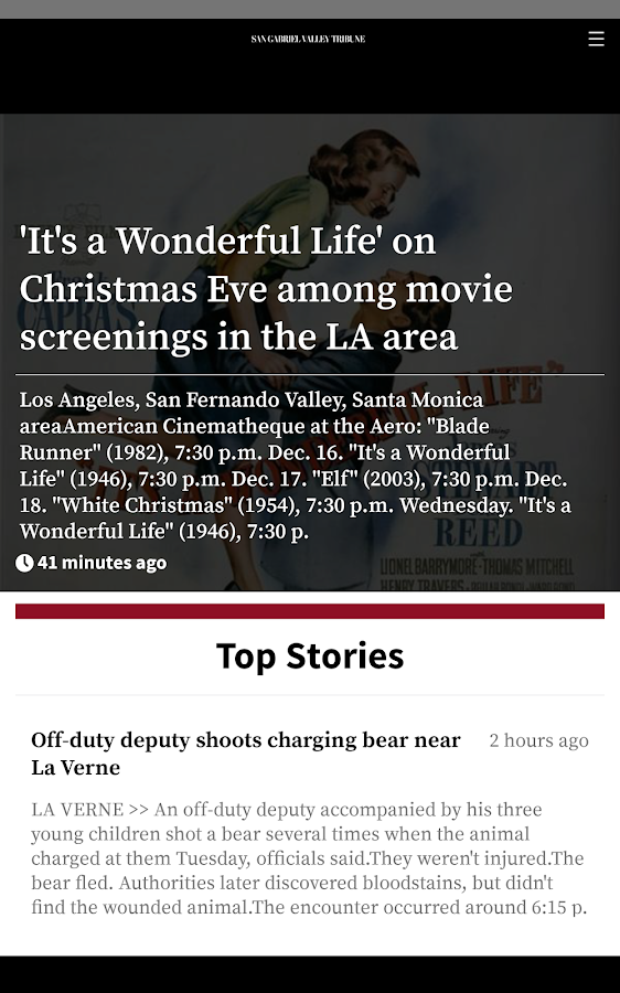 San Gabriel Valley Tribune- screenshot