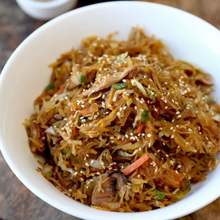 Spaghetti Squash Yakisoba Style