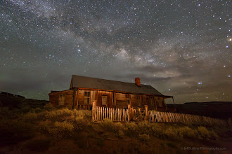 Photo: Milky Way over Hoover House at Bodie