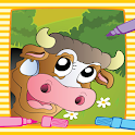 Farm Animal Villege Color Book icon