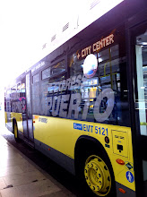 Photo: Easy transportation from airport.  Express bus to Plaza Cibeles for €5.