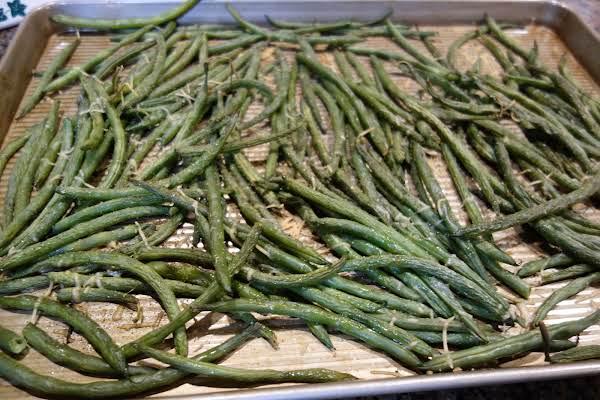 Roasted Parmesan String Beans