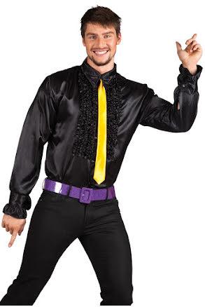 Discoskjorta, svart