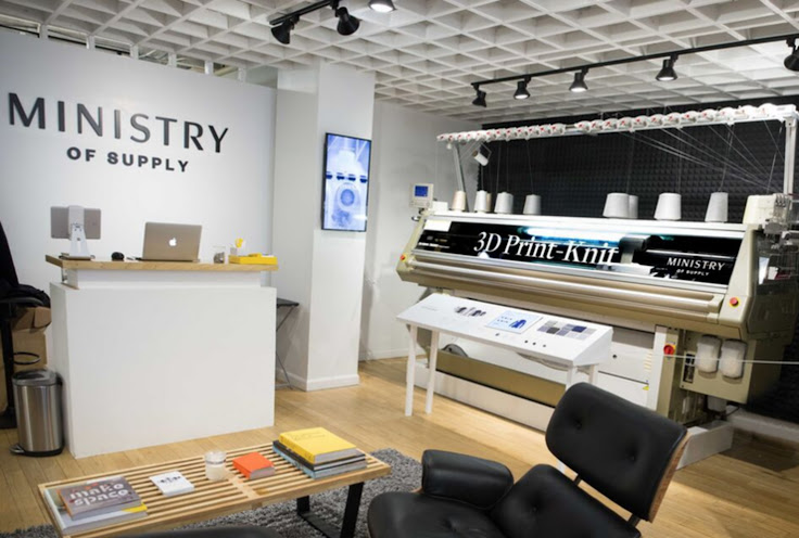 3D print seamless clothing at the Ministry. Photo: Ministry of Supply.