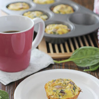 Spinach and Sun-Dried Tomato Frittata Muffins.