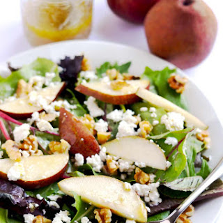Pear, Goat Cheese and Walnut Salad.