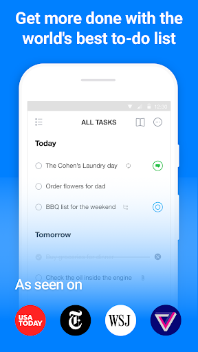 Any.do: To-do list, Calendar, Reminders & Planner screenshot 1