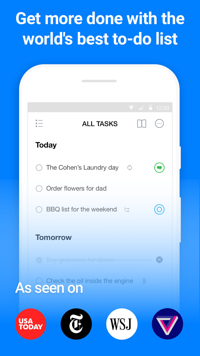Any.do: To-do list, Calendar, Reminders & Planner Screenshot 0