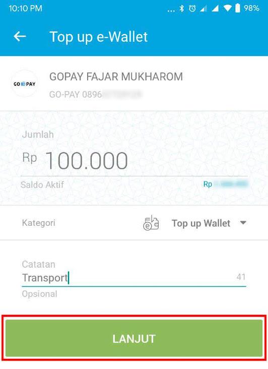 Cara Top Up GoPay lewat Jenius   Fajar Mukharom
