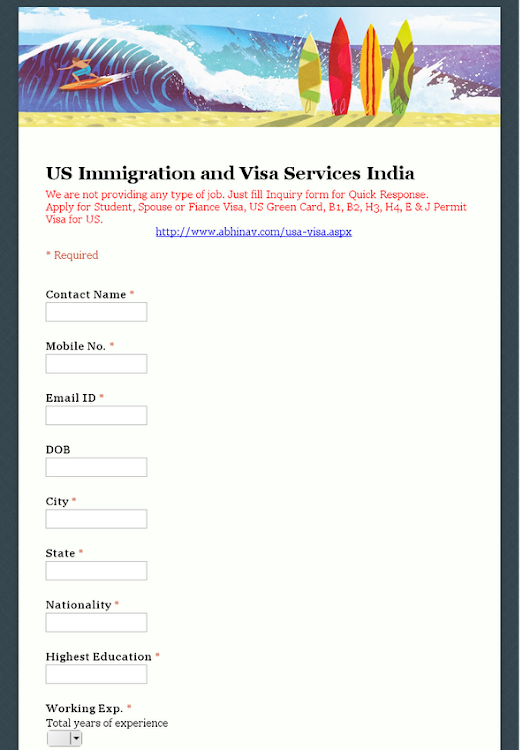 US Immigration and Visa Services India