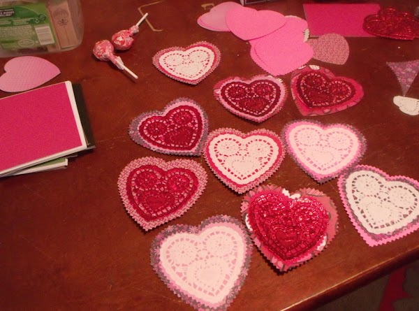 Cut out large hearts, medium hearts and assemble. The number depends on how many...