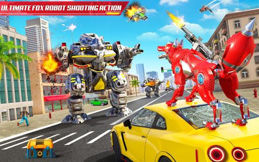 Wild Fox Transform Bike Robot Shooting: Robot Game 12 screenshots 12