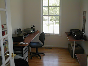 Photo: The station in May 2002, about one month after moving into the new house. Must fill this up with radios!