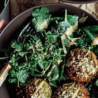 Freedom Falafel With Lemon Pepper Spinach Salad