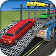 Limousine Car Transport Truck 3D Transporter Games
