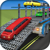 Limo Car Transporter Truck 3D: Transporting Games