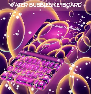 Water Bubbles Keyboard - náhled