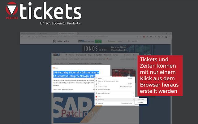 visoma tickets Browsererweiterung