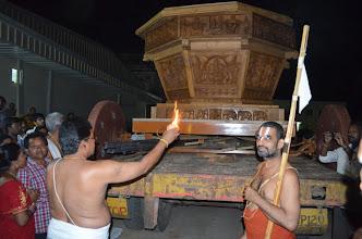 Photo: New Chariot Puja during Garuda Vahana Seva (3rd Bramhothsavam - Divya Saketham - 2012 Apr 29 to May 5)