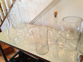 Photo: Prices vary OBO for entire lot. Assorted glass vases.