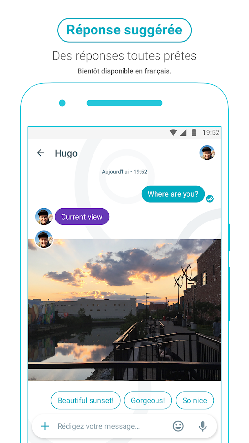 Google Allo – Capture d'écran