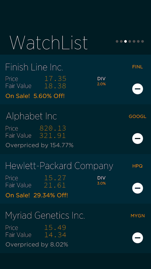 Value Line- screenshot