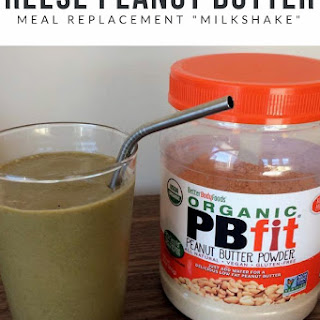 Reese Peanut Butter Meal Replacement Milkshake.