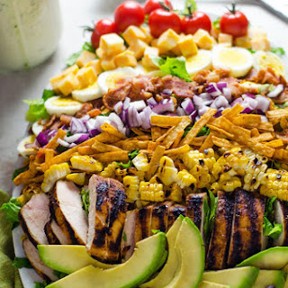 Southwestern Chicken Cobb Salad with Jalapeño Buttermilk Ranch.