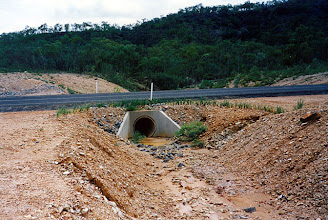 Photo: AUS-HYDR02 - Australia this culvert and drain if protected by vetiver would assure protection of this road
