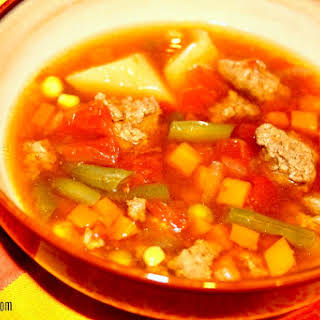 Slow Cooker Beef Vegetable Soup.