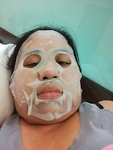 Photo: Facial Mask from Nikki to end the tiring week.