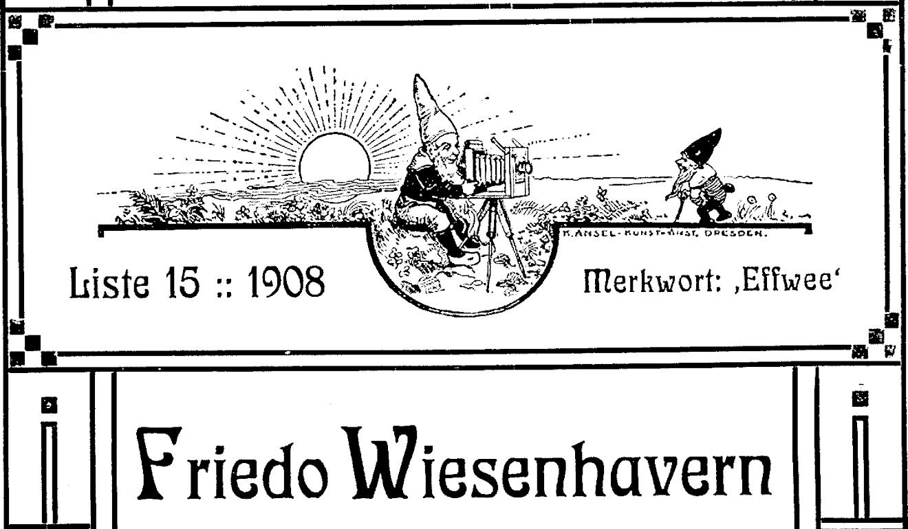 1908 Fotokatalog Friedo Wiesenhavern