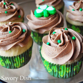 Bailey's Irish Cream Cupcakes with Mocha Frosting